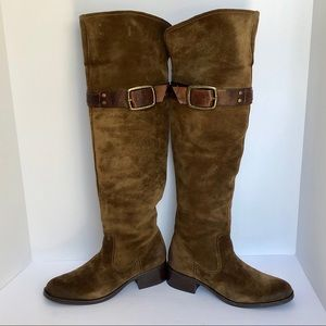 NWT Jessica Simpson Brown Knee Suede Boot 7.5